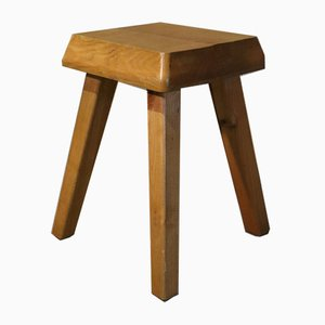 Solid Elm Stool, 1970s