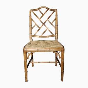 Beistellstuhl aus Bambus & Rattan, 1930er