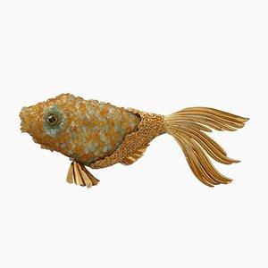 Mid-Century Fisch Figurine von Georges Braque & Heger De Lowenfeld