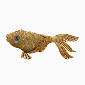 Mid-Century Fish Sculpture by Georges Braque & Heger De Lowenfeld