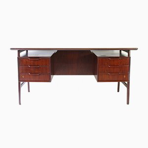 Mid-Century Danish Rosewood Desk from Omann Jun