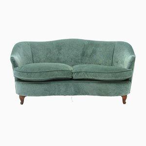 Italian Velvet 2-Seat Sofa, 1950s