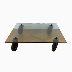 Glass Model 2561 Coffee Table by Gae Aulenti for Fontana Arte, 1980s