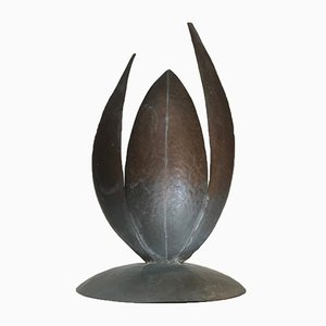 Vintage Brutalist Danish Abstract Copper Sculpture, 1970s