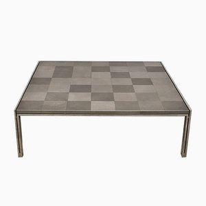 Grande Table Basse Carrée Luar Op Vintage par Ross Littell pour ICF De Padova