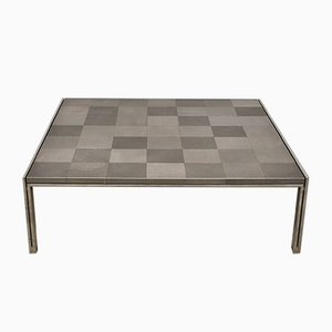 Large Vintage Square Luar Op Coffee Table by Ross Littell for ICF De Padova
