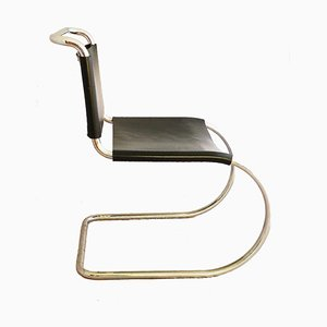 Leather & Chrome MR10 Lounge Chair by Mies van der Rohe for Knoll International, 1960s