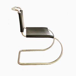 MR10 Sessel aus Leder & Chrom von Mies van der Rohe für Knoll International, 1960er