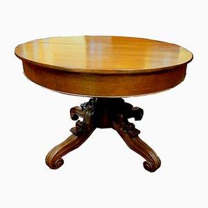 Mesa de comedor extensible antigua grande