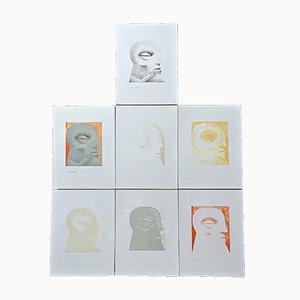 Horst Antes, Mappe ''Kopf'', Folge von 7 Lithographien aus dem Jahr 1976, SELTEN