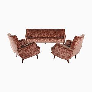 806 Armlehnsessel & Sofa von Carlo de Carli für Cassina, 1950er, 3er Set