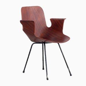 Wooden Medea 102 Armchair by Vittorio Nobili for Frattelli Tagliabue, 1956