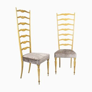 Italian Chiavarine Chairs, 1940s, Set of 2