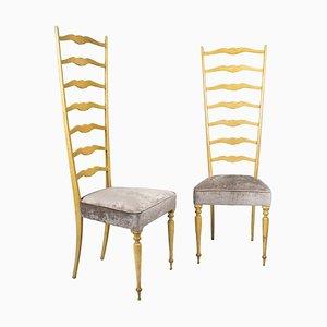 Italienische Chiavarine Stühle, 1940er, 2er Set