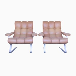 Vintage Lounge Chairs by Guido Bonzani for Tecnosalotto, Set of 2