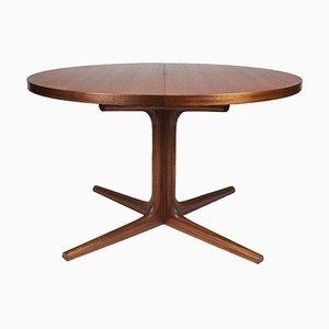 Mesa de comedor danesa extensible, años 60