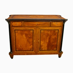 Antique French Napoleon III Floral Motif Sideboard