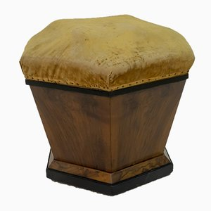 Vintage Art Deco Walnut Pouf by Gaetano Borsani for Atelier Borsani Varedo, Set of 2