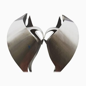 Dutch Monumental Praying Falcons Abstract Sculpture, 1960s