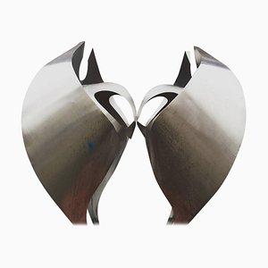 Escultura monumental halcón holandesa abstracta de oración, años 60