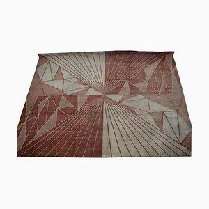 Geometrischer tschechischer Teppich, 1950er