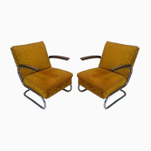 Bauhaus Armchairs by Jindrich Halabala for Műcke & Meider, 1930s, Set of 2