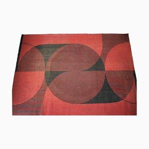 Modernistischer Abstrakter Geometrischer Teppich, 1970er