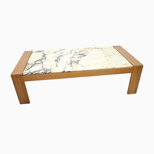 Italian Poggibonsi Marble Coffee Table, 1960s