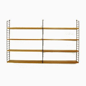Vintage Ash Veneer Modular Shelf by Kajsa & Nils ''Nisse'' Strinning for String, 1960s