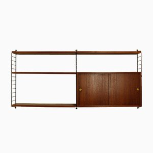 Teak Veneer Modular Shelf System by Kajsa & Nils ''Nisse'' Strinning for String, 1960s