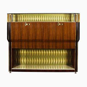 Italian Rosewood Bar Cabinet, 1950s