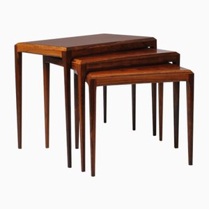 Rosewood Nesting Tables by Johannes Andersen for CFC Silkeborg, 1950s