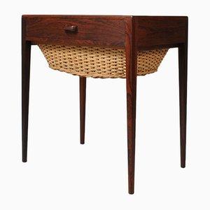 Mesa auxiliar de palisandro de Poul Hundevad para Hundevad & Co., años 60