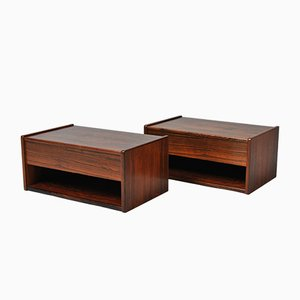 Danish Rosewood Nightstands, 1950s, Set of 2