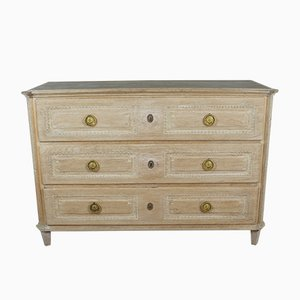 Antique Bleached Oak Chest of Drawers