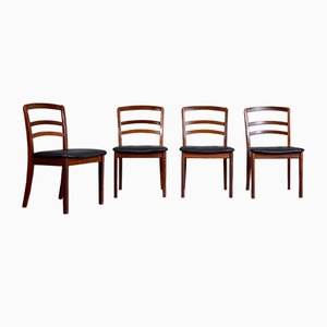 Teak and Leatherette Dining Chairs from G-Plan, 1960s, Set of 3