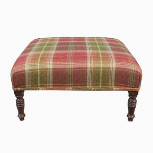 Antique Tartan Wool Stool