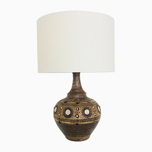Large French Ceramic Table Lamp from Georges Pelletier, 1970s