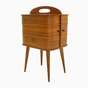 Dänische Teak & Sperrholz Aufbewahrungsbox, 1960er