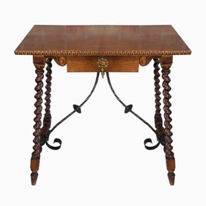 Antique Spanish Walnut Console Table