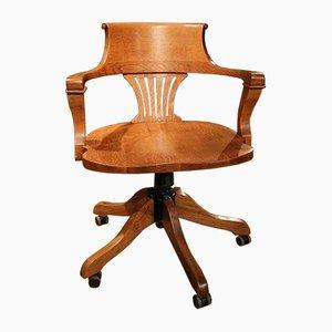 Antiker Schreibtischstuhl aus Eiche