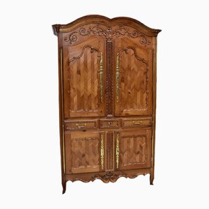 Antique Louis XV Birch Wardrobe