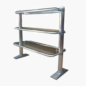 Aluminium & Glass Shelf from Morari, 1960s