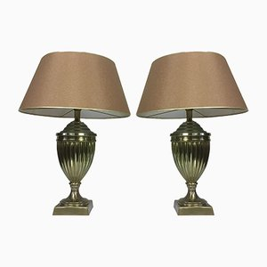 Dutch Brass Urn Lamps from Kullmann, 1970s, Set of 2
