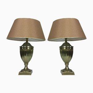 Niederländische Messing Urnen Lampen von Kullmann, 1970er, 2er Set