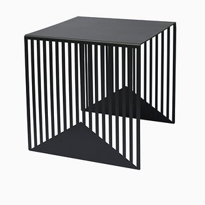 Large Black Zick Zack Table by Olga Bielawska for Swedish Ninja