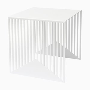 Großer weißer Zick Zack Tisch von Olga Bielawska für Swedish Ninja