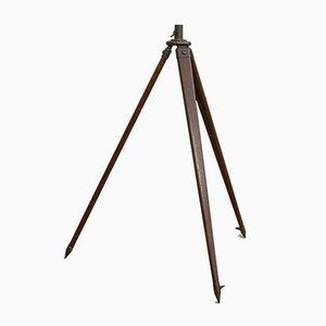 Vintage Teleskop Dreibein aus Eiche & Bronze, 1940er