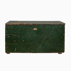 Antike edwardianische Posttruhe aus Kiefernholz