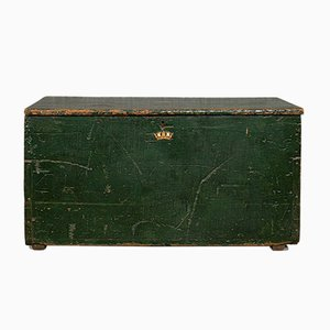 Antique Edwardian Pine Mail Trunk